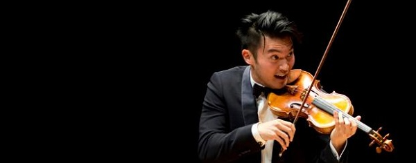 Ray Chen performs at the RenŽe & Henry Segerstrom Concert Hall on Tuesday.   ///ADDITIONAL INFORMATION :5/12/15  violin.0513.mm - MATT MASIN, STAFF PHOTOGRAPHER